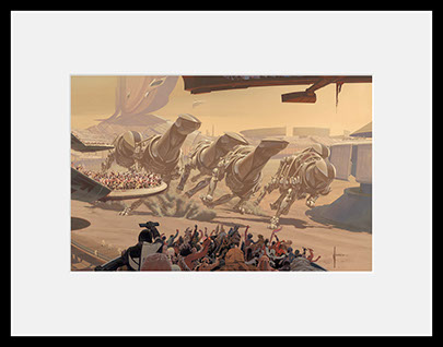RUNNING OF THE SIX DRGXX S-08  harf size (framed)